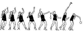 Động tác forehand smash thông thường, không có dậm nhảy trong đập cầu lông