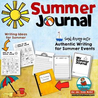 writing resources, elementary school, writing about summer