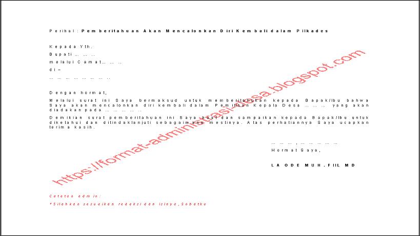14+ Contoh surat izin cuti calon kepala desa terbaru yang baik dan benar