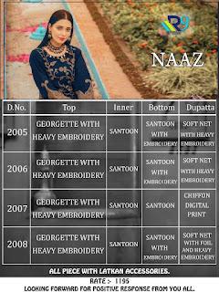 R9 Designer Naaz Georgette pakistani Suits