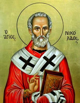 Ikona Świętego Mikołaj / Agios Nikolaos