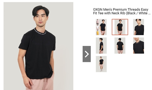 OXGN Fit Tee with Neck Rib