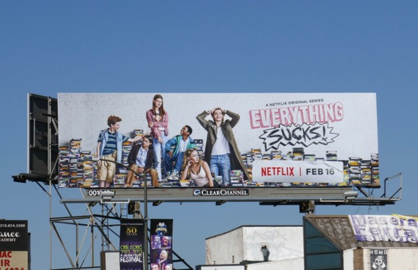 Everything Sucks series premiere billboard