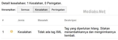 Mengatasi Kesalahan Tidak Ada Tag XML