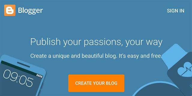 create blog with blogger