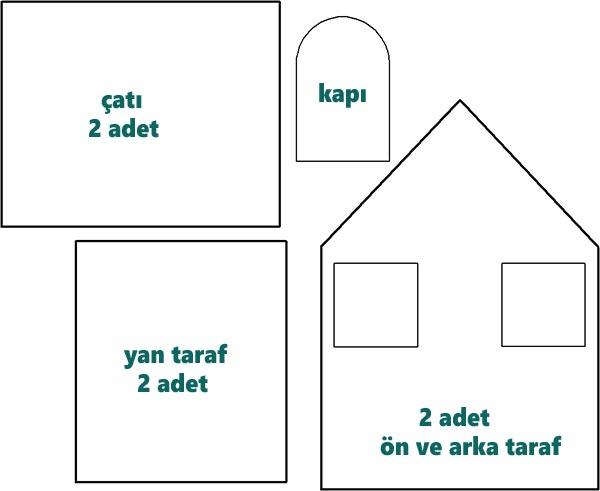 Kartondan Maket Ev Yapımı ölçüleri