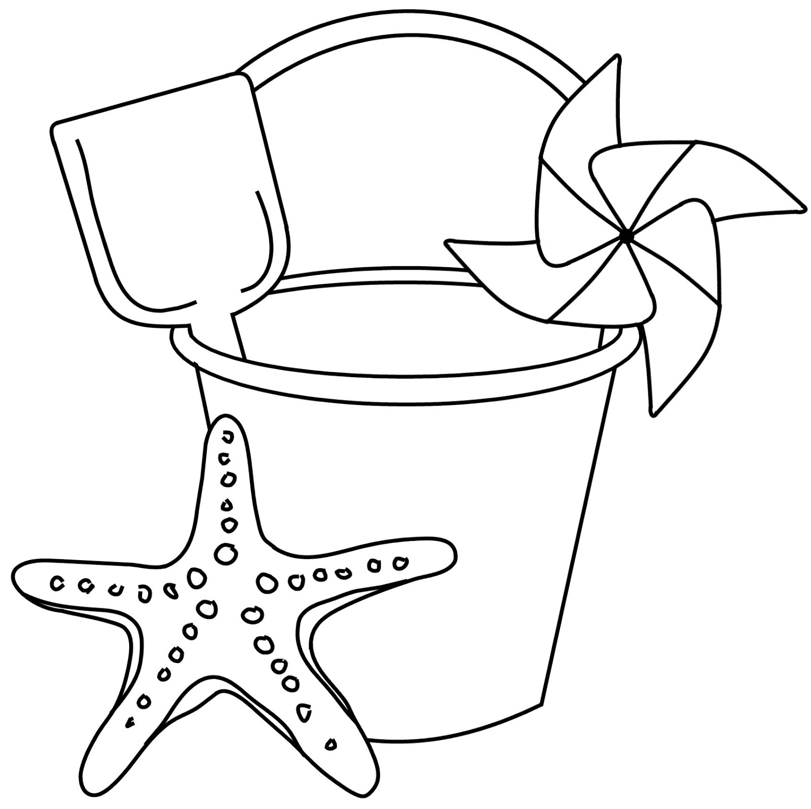 Beach bucket shovel template printable for Sand bucket template