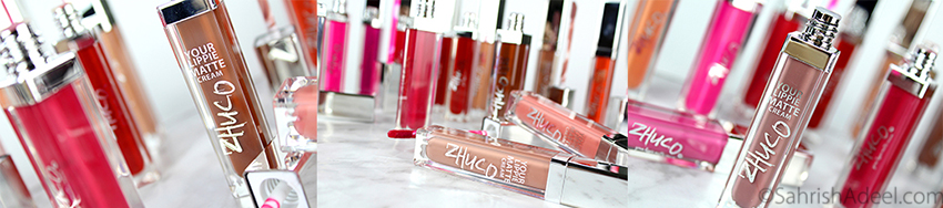 Lippie Matte Cream Matte Lipsticks by Zhuco Cosmetics - Review & Lip Swatches