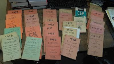 Annales du certificat d'études (collection musée)