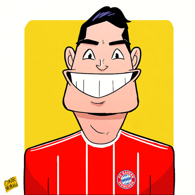 James Rodriguez Caricature