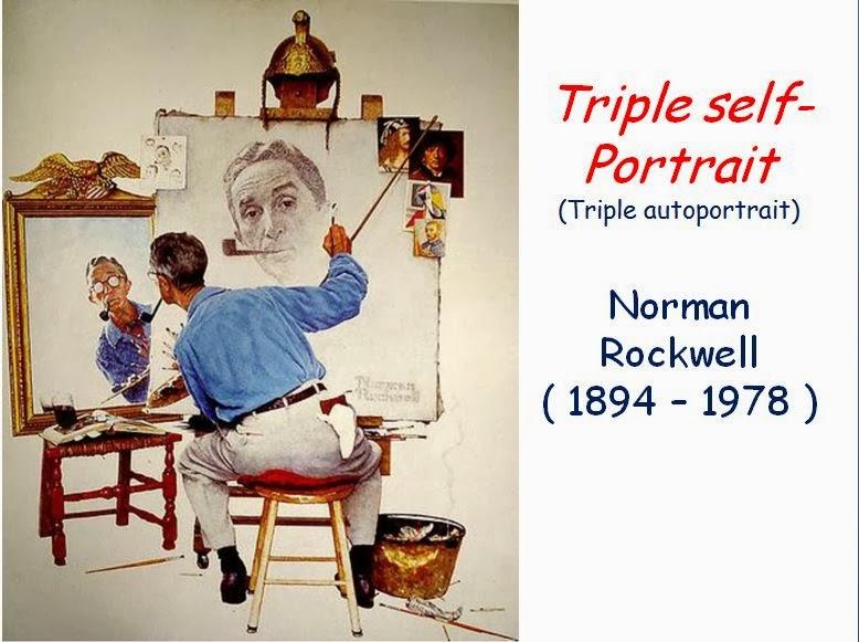 triple autoportrait norman rockwell technique utilisée