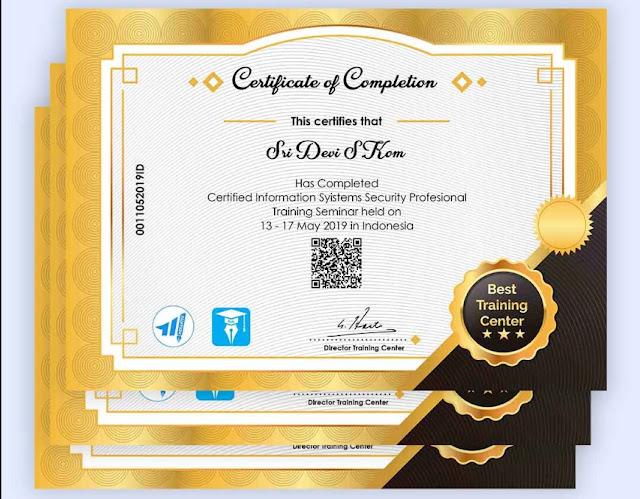 kumpulan template sertifikat cdr