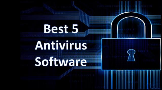 The best 5 Antivirus software.