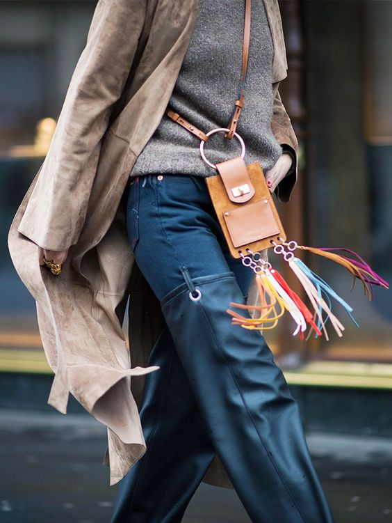 chloe jane mini fringed suede bag
