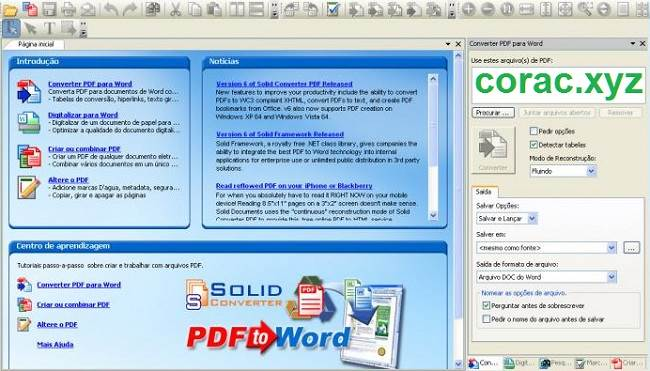 Solid converter PDF giao diện