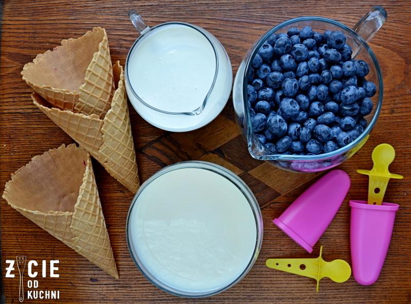 lody, lody jagodowe, lody borowkowe, lody z malinami, lody owocowe, lody domowe, jak zrobic lody, skladniki lodow, lody bez jajek, lody bez maszyny, zycie od kuchni