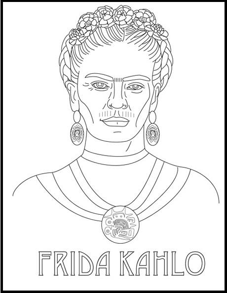 Frida Kahlo Para Pintar