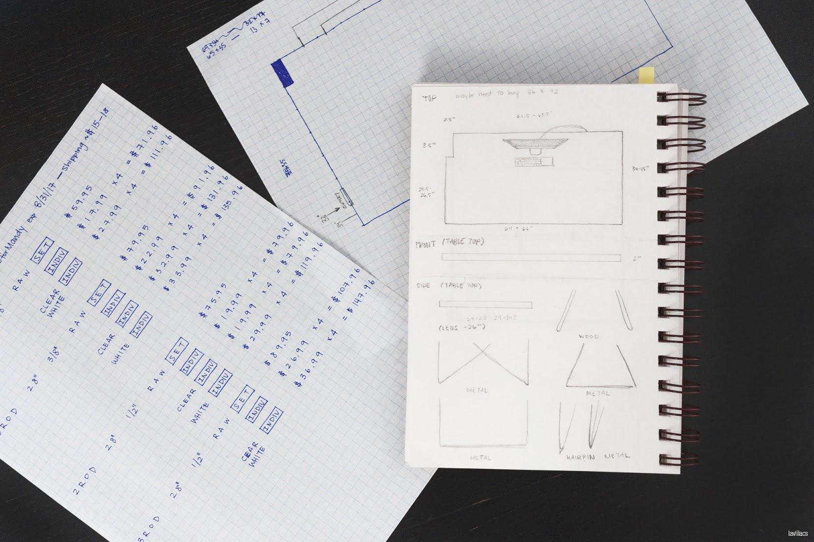 lavlilacs Custom Hairpin Desk planning