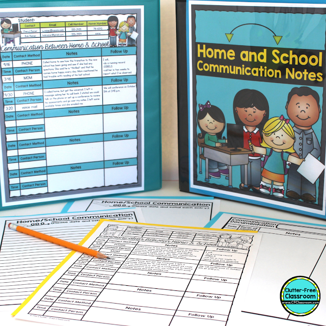 Are you looking for ways to improve positive student behavior and easily communicate with parents daily? Check out these behavior management and parent communication ideas from the Clutter Free Classroom including behavior plans, logs, charts, notes, forms, apps, sheets, tools, websites, and posts. #classroommanagement #clutterfreeclassroom