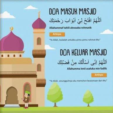Kumpulan Doa Pergi, Masuk Masjid dan Keluar Masjid Lengkap Arab Latin dan Artinya