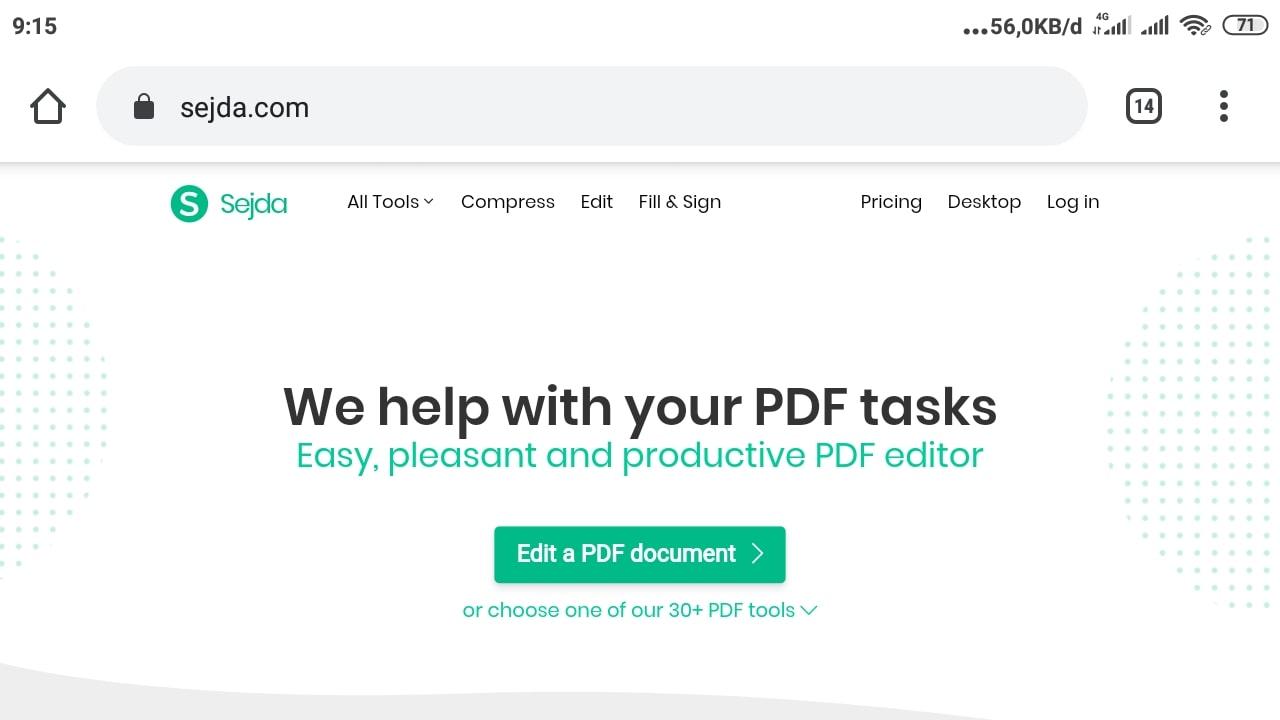 Cara Kompres File PDF di Sejda