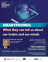 Lecture poster of Dr. Insel's Seminar on Smartphones and Brains