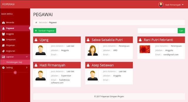 Source code Program Aplikasi Koperasi Simpan Pinjam KSP berbasis web