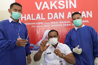 Forkopimda Aceh Timur Lanjut Suntik Vaksin Covid-19 Tahap Dua