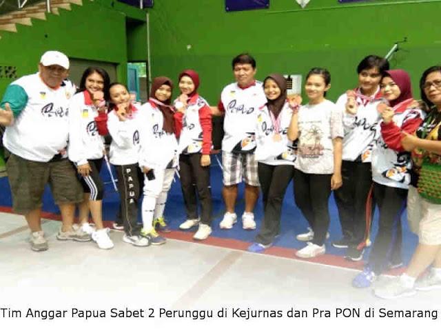 Tim Anggar Papua Sabet 2 Perunggu di Kejurnas dan Pra PON di Semarang