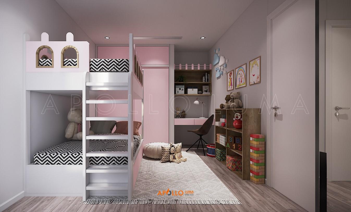 Thiết kế nội thất căn 2 phòng ngủ (80m2) Times City