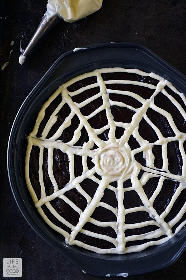 Spiderweb Brownies | by Life Tastes Good #LTGrecipes