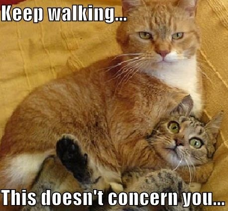 Keep walking... this doesn't concern you
