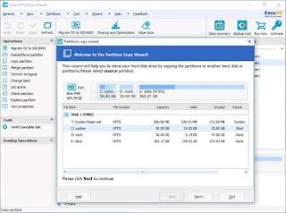 برنامج تقسيم الهارد ديسك EaseUSPartition Master Free 11.5