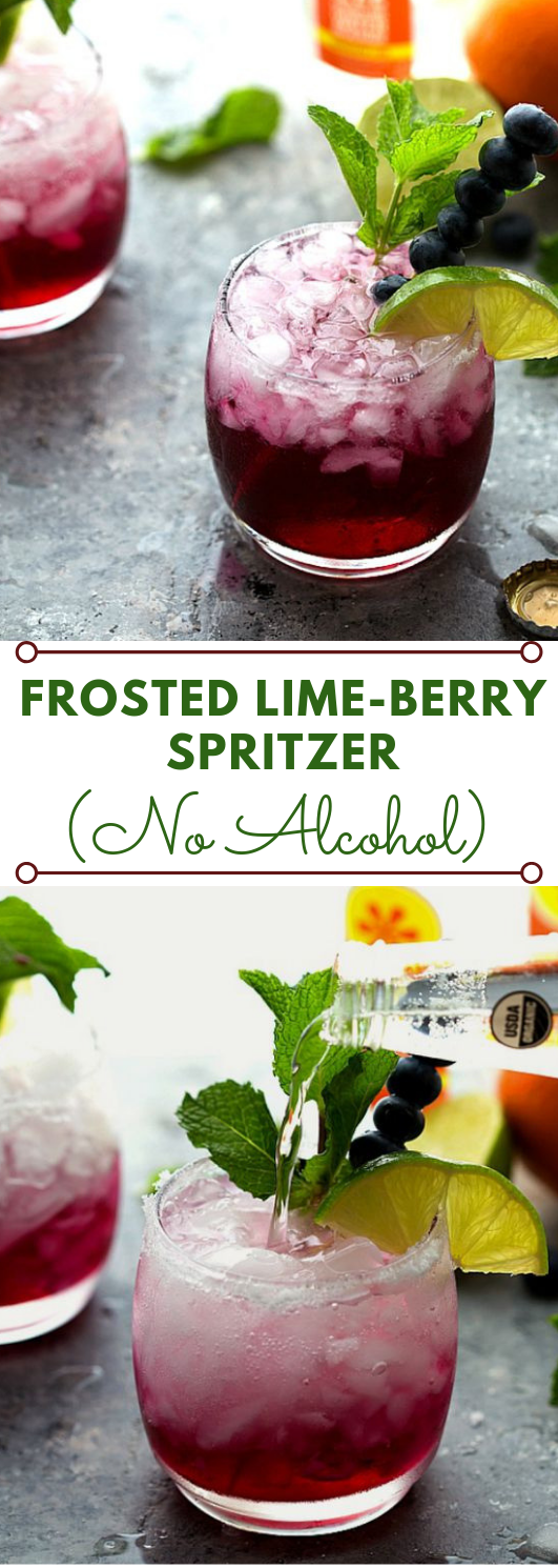 FROSTED LIME-BERRY SPRITZER #drink #cocktail #smoothie #party #healthyrecipes