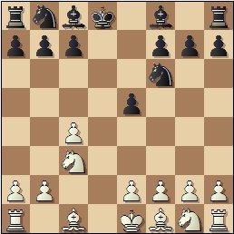 Partida de ajedrez Franco vs. Lladó, Campeonato de España de 1956, posición después de 5…Rxd8
