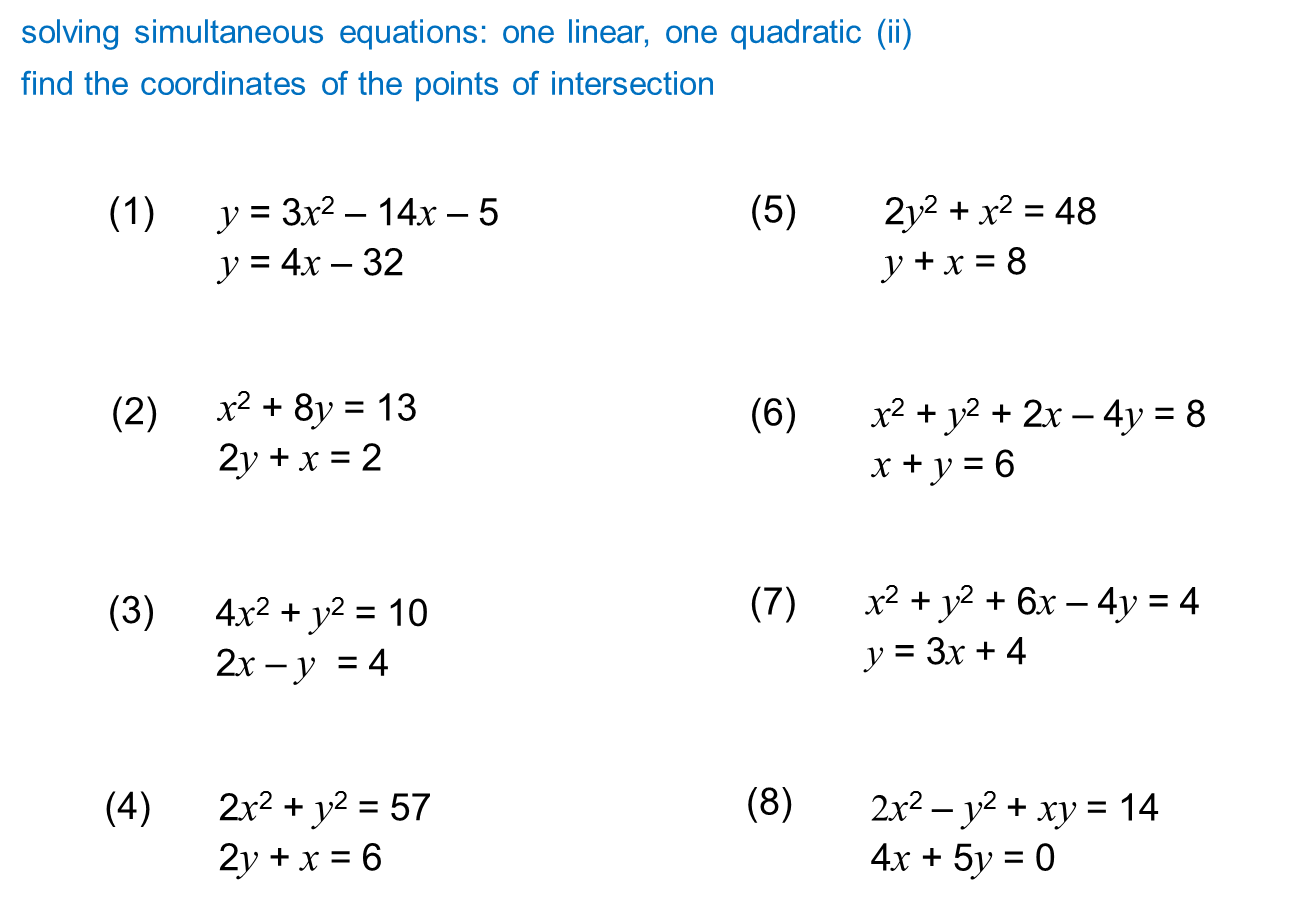 Median Don Steward Mathematics Teaching Quadratic Meets