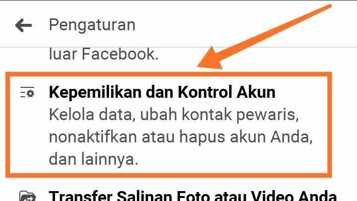Cara menghapus akun FB Lite