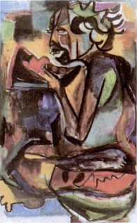 Lukisan Affandi dengan bahan cat air