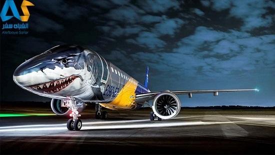 هواپیمای جدید کوسه ای شکل شرکت embraer
