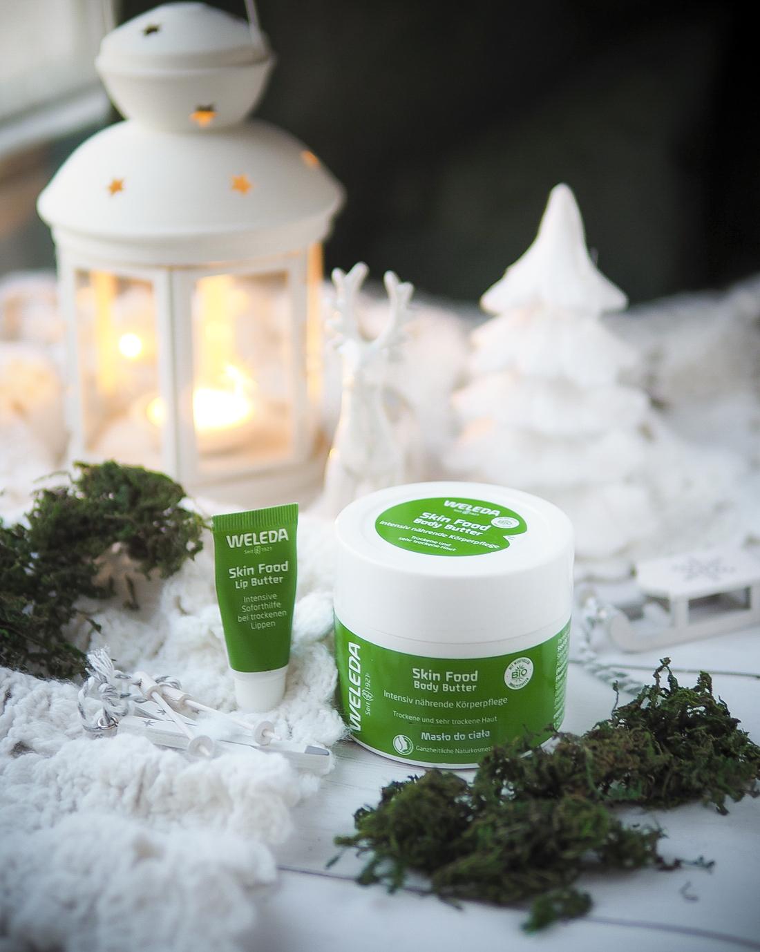 Zimowa turbo pielęgnacja - Weleda Skin Food Body Butter i Lip Balm