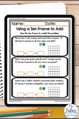 Teach students important problem solving skills and the part part whole problem solving type with these Mega Math Practice resources