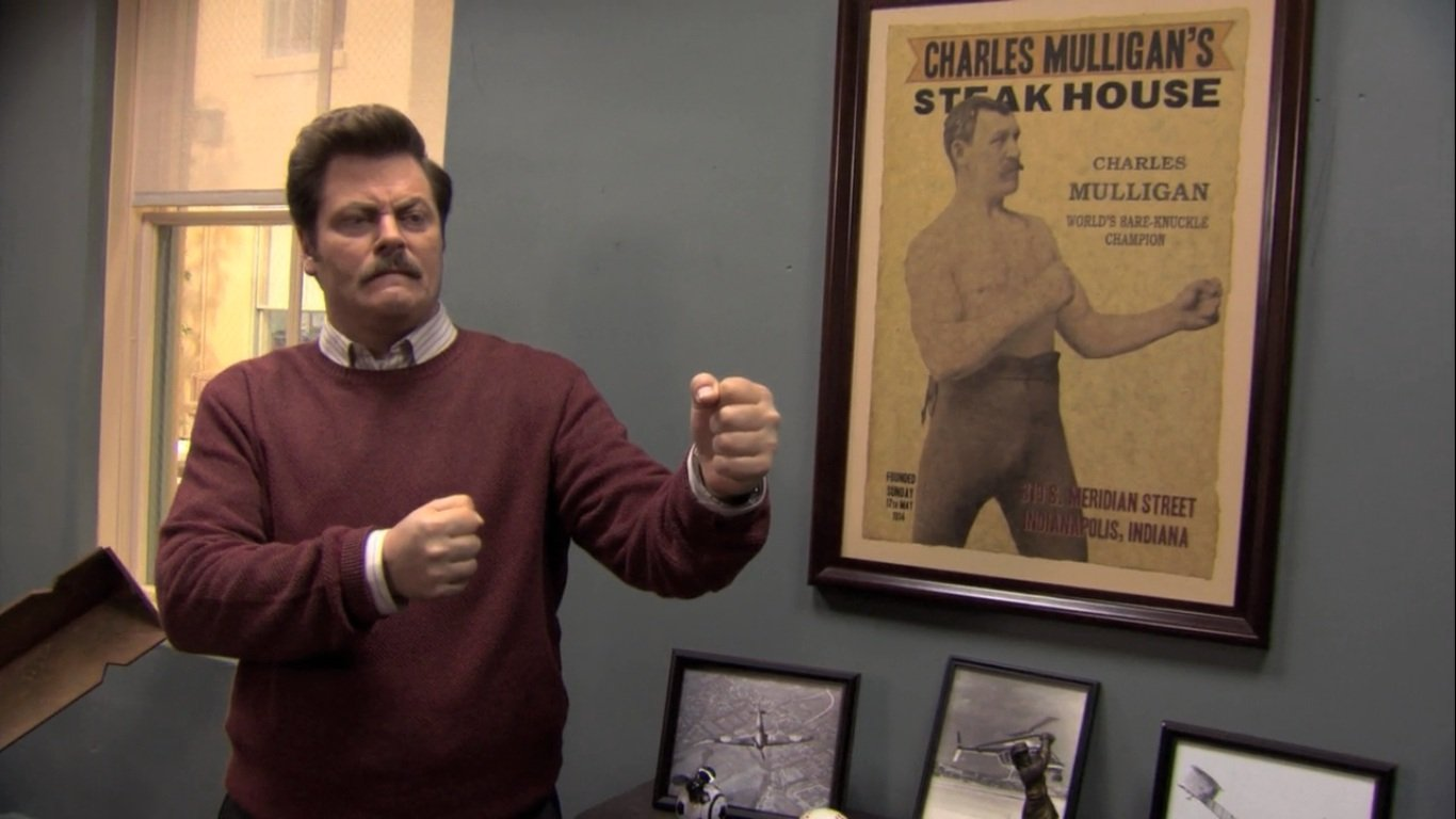 Ron Swanson de Parks and Recreation