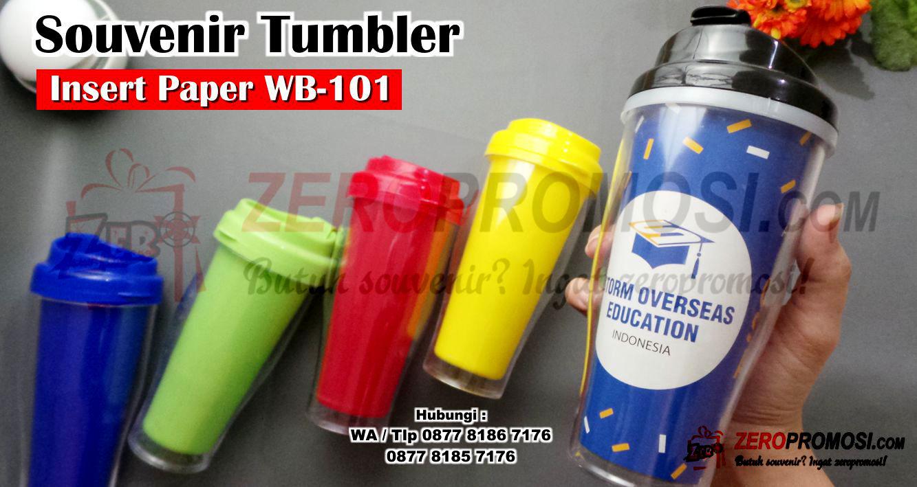 Tumbler Insert Paper WB-101 untuk barang promosi, Wb 101 tumbler Insert paper, Tumbler Insert Paper + Cetak Full Color 500ML WB101, BOTOL INSERT PAPER WB - 101, gelas tumbler Botol Insert Paper WB-101, Souvenir Tumbler Custom WB-101 Tumbler Promosi