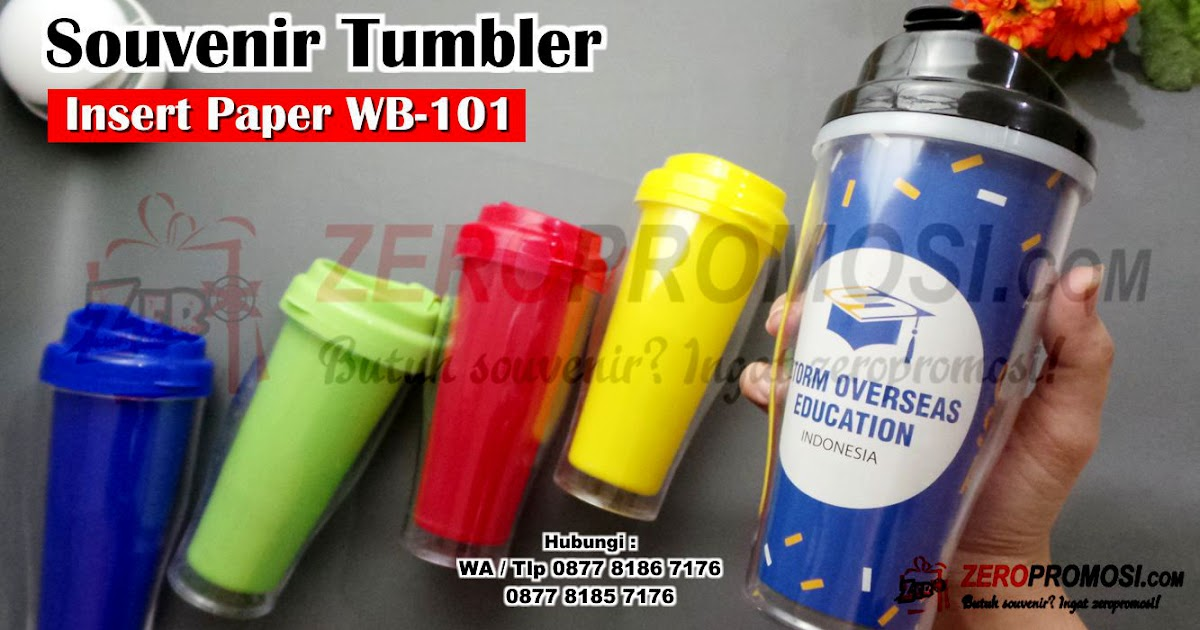 Jual Produk Souvenir Botol Minum Insert Paper WB-101