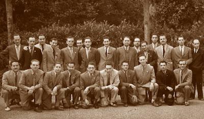Ajedrecistas del Terrassa y del Mataró en 1952