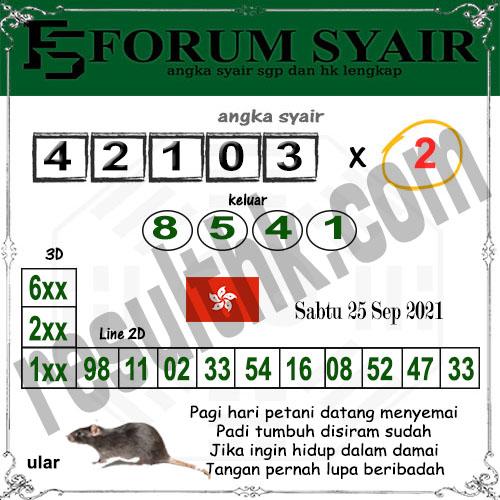 Forum syair hk Sabtu 25 September 2021