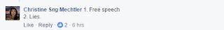 I believe in free speech* 5