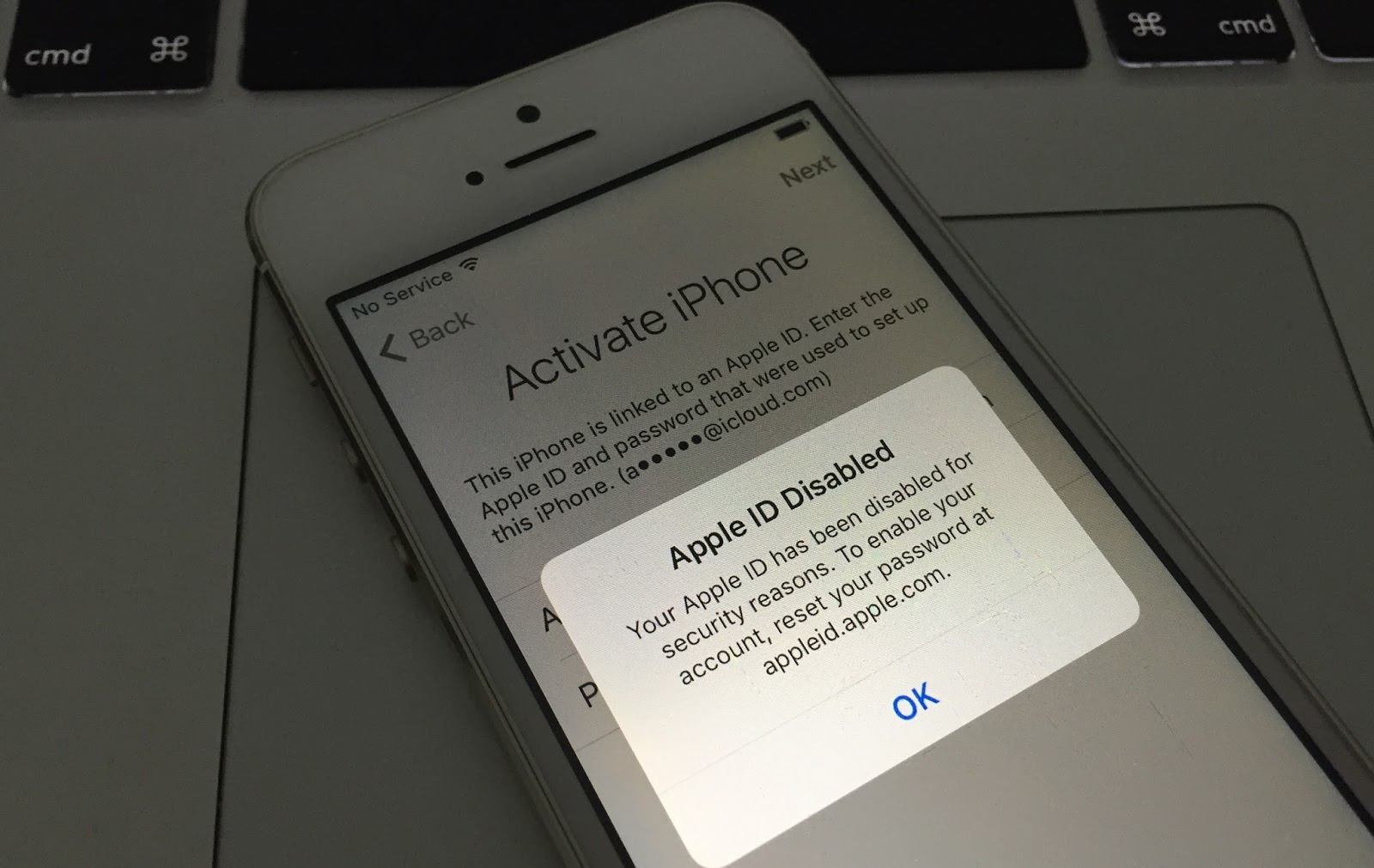 the fingerprint apple account locked due to security reasons the