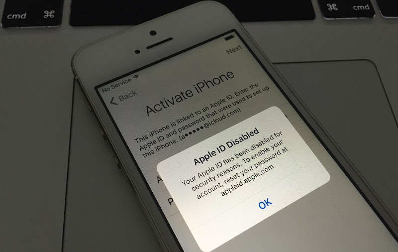 Apple ID Disabled for Security Reasons