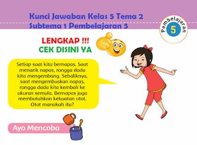 Kunci Jawaban Kelas 5 Tema 2 Subtema 1 Pembelajaran 5 www.simplenews.me